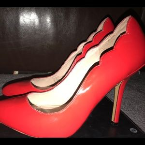Red Betsey Johnson Heels Size 9